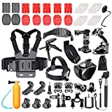 Bestter 62-in-1 Action Camera Accessory Kit for GoPro Hero 5 Session/Hero Session/Hero 6 5 4 SJ4000 SJ7000 DBPOWER AKASO VicTsing APEMAN WiMiUS Rollei QUMOX Lightdow Campark Sony Sports DV and More