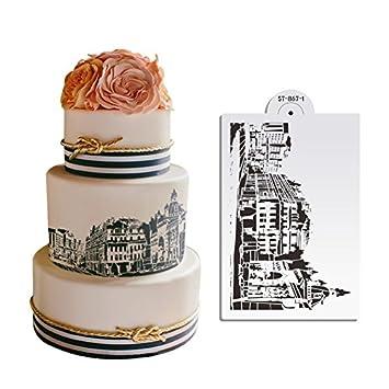 Ak Art Geschirr Europa Building Kuchen Schablone Fur Hochzeit Kuchen