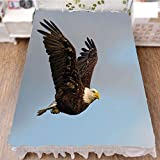Bed Skirt Cover 3D Print,Flying in Open Sky Majestic Animal Wildlife,Fashion Personality Customization adds Color to Your Bedroom. by 94.5''x102.3''