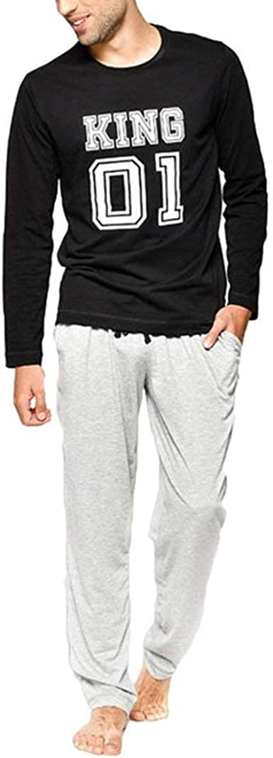 Pijamas Unisex para Mujer para Dormir Ropa Match Family De Dormir Set Especial Estilo De Pijama para Dormir Algodón Top Pantalones Largos De Dos ...