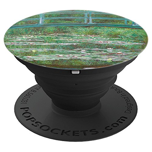 Bridge over a Pond of Water Lilies Monet - PopSockets Grip and Stand for Phones and Tablets (Bridge Over A Pond Of Water Lilies)