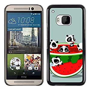 Be Good Phone Accessory // Dura Cáscara cubierta Protectora Caso Carcasa Funda de Protección para HTC One M9 // Watermelon Fruit Fresh Red Panda Bear Cute
