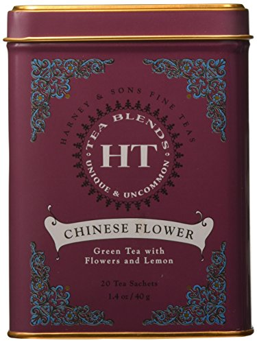 Harney & Sons Caffeinated Chinese Flower Green Tea Tin 20 ()