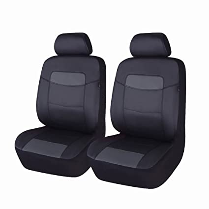 Enjoyable Flying Banner Black Classic Leatherette Car Seat Covers With Side Airbag Unemploymentrelief Wooden Chair Designs For Living Room Unemploymentrelieforg