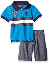 U.S. Polo Assn.... Boys Polo Shirt and Short Set