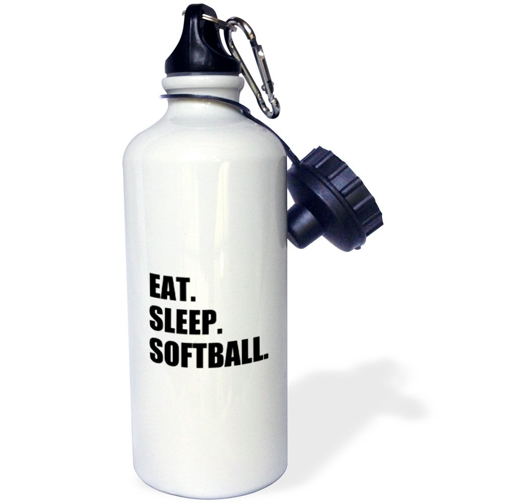 21 oz Multicolored wb/_180444/_1 21oz 3dRose Eat Sleep Softball-Team Enthusiast Play Player Text-Sports Water Bottle