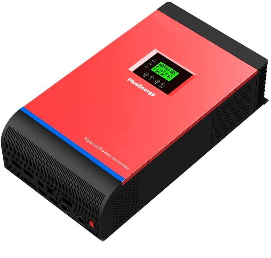 Inversor Híbrido Solar PlusEnergy Onda Pura MPPT 24V 3KVA 60A Multifunción 3 en 1 con Regulador de Corriente + Cargador