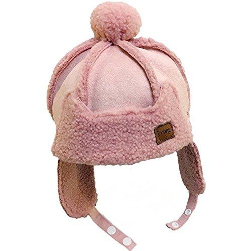 YAHUIPEIUS Winter Earflap Hat Toddler Ushanka Hat Kids Bomber Hat Cap Warm Plush Soft Beanie Hat by (Pink) (Wool Beanie Earflap)