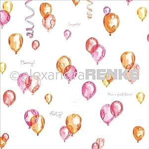"Alexandra Renke Circus Design Paper 12""X12""-Balloon"