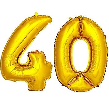 DekoRex® número Globo decoración cumpleaños Brillante para ...