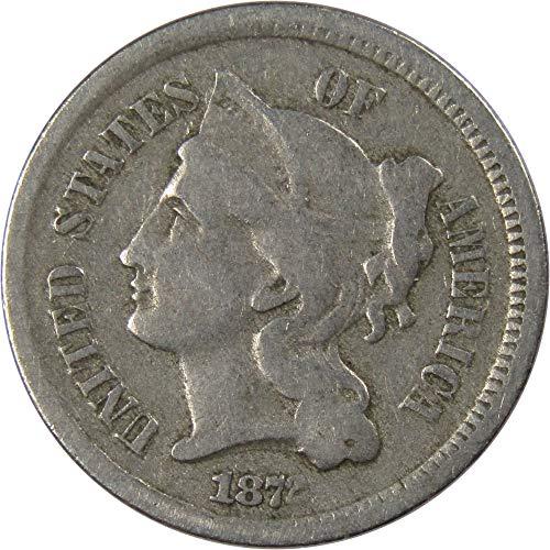 1872 3c Nickel Three Cent Piece US Coin Genuine
