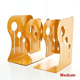 Do4U Heavy Duty Non-skid Adjustable Extension Bookends Books Holder Book Stand for Home Office School Library (Medium, Yellow)