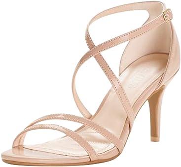 Davids Bridal Crisscross Strap High Heel Sandals Style HARLEEN02