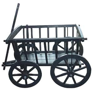 Jardín Decoración wagon01bk Wagon, paleta de albañil, Negro