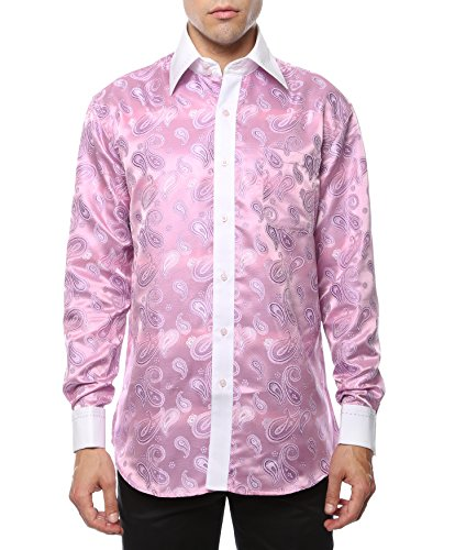 M 34-35 Mens Hi Collar Dress Shirt HI-1030