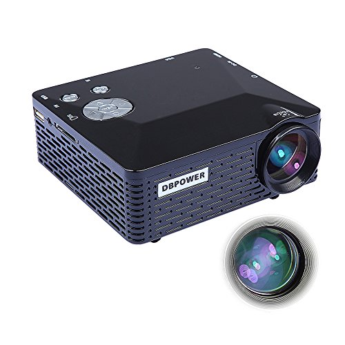 DBPOWER BL-18 Portable Mini LED Projector with USB SD VGA HD