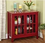 Cumberland Double Glass Door Cabinet (Red)