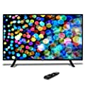 """50"""" 1080p HDTV LED Television - Hi Res Widescreen Monitor Ultra HD TV with HDMI, RCA Input, Audio Streaming, Headphones, Stereo Speaker, Mounts on Wall, Works w/Mac PC, Includes Remote Control - Pyle"""