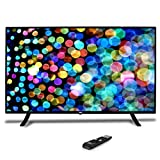 """Image of 50"""" 1080p HDTV LED Television - Hi Res Widescreen Monitor Ultra HD TV with HDMI, RCA Input, Audio Streaming, Headphones, Stereo Speaker, Mounts on Wall, Works w/Mac PC, Includes Remote Control - Pyle"""