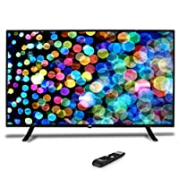 """50"""" 1080p HDTV LED Television - Hi-Res Widescreen Monitor Ultra HD TV with HDMI, RCA Input, Audio Streaming, Headphones, Stereo Speaker, Mounts on Wall, Works w/Mac PC, Includes Remote Control - Pyle"""