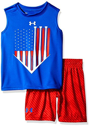 Under Armour Little Boys' UA Muscle Tank and Short Set, Ultra Blue, 6