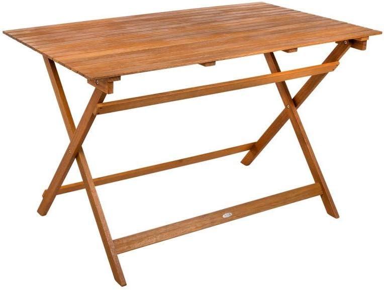 Aktive 61030 - Mesa rectangular madera de acacia Garden 113 x 64 x 74 cm