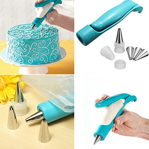 NuoStar Pen Kit Pastry Icing Piping Bag Nozzle Tips Fondant Sugar Craft Decorating Cake