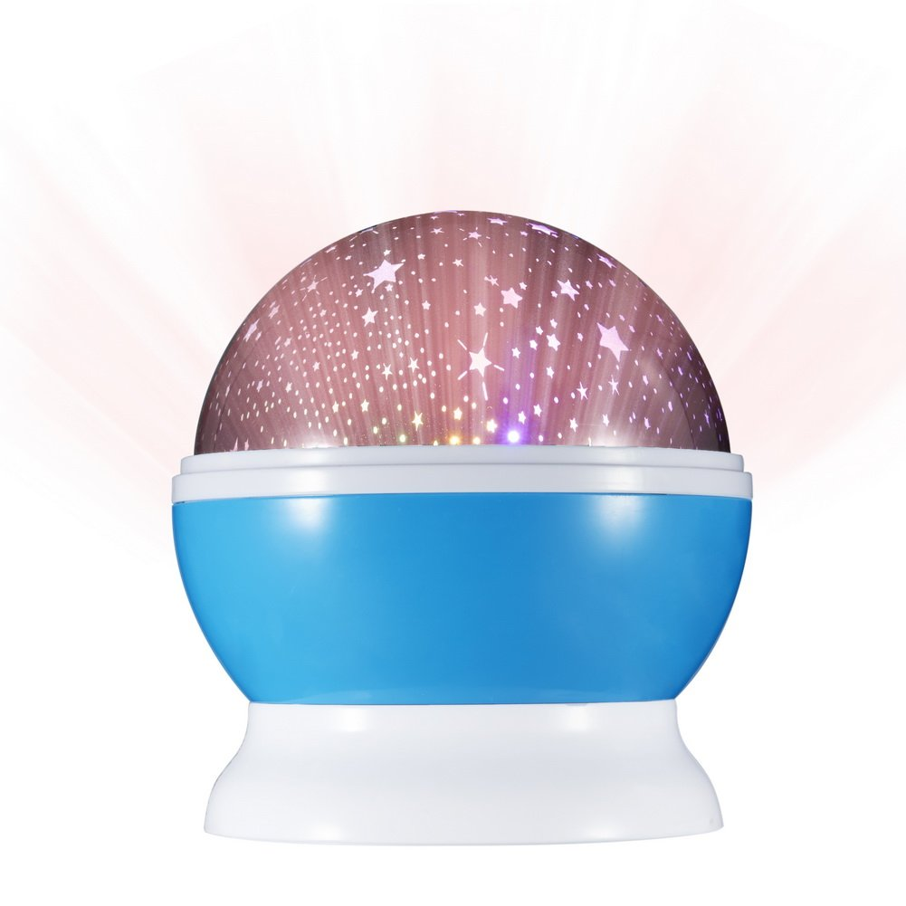 Star projector lamp night - 6d Star Projector Lamp Night Light With 4 Colorful Led Bulbs Making 360 Degree Rotation Night Sky Moon And Stars For Bedroom And Living Room Reviews 2016