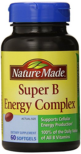 Nature Made Super B Complex Full Strength Softgel, 60 Count (Pack of 5) , Made-9ltj by Nature Made