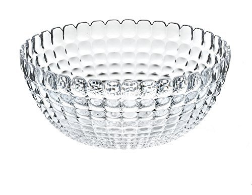 Guzzini Tiffany Collection Large Serving Bowl, 101-Fluid Ounces, Transparent Collection Large Bowl