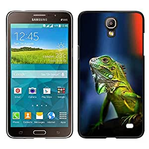 LECELL--Funda protectora / Cubierta / Piel For Samsung Galaxy Mega 2 -- gecko camaleón lagarto verde tropical --