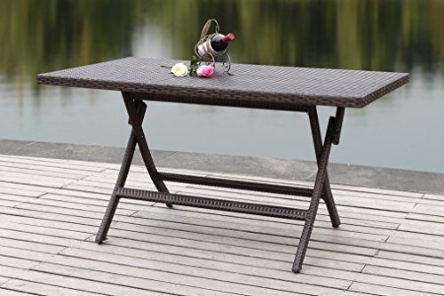 (Safavieh Patio Collection Mary Rectangle Folding Table)
