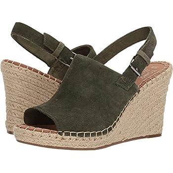 Amazon.com | TOMS Women's Monica Pine Suede Wedge Sandals