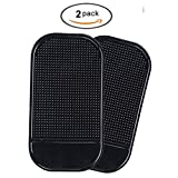 Juntu Roadster Smartphone Sticky Pad Car Dash Mat Mount Holder with One Holder for Cell Phone Pack of 2