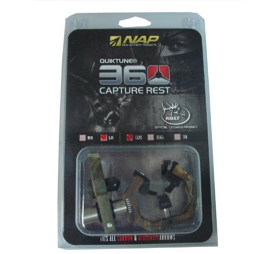 New Archery Products NAP Quiktune 360 Capture Arrow Rest left Hand Camo