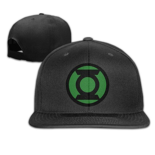 Ogbcom Green Lantern Logo Snapback Adjustable Flat Baseball Cap/Hat