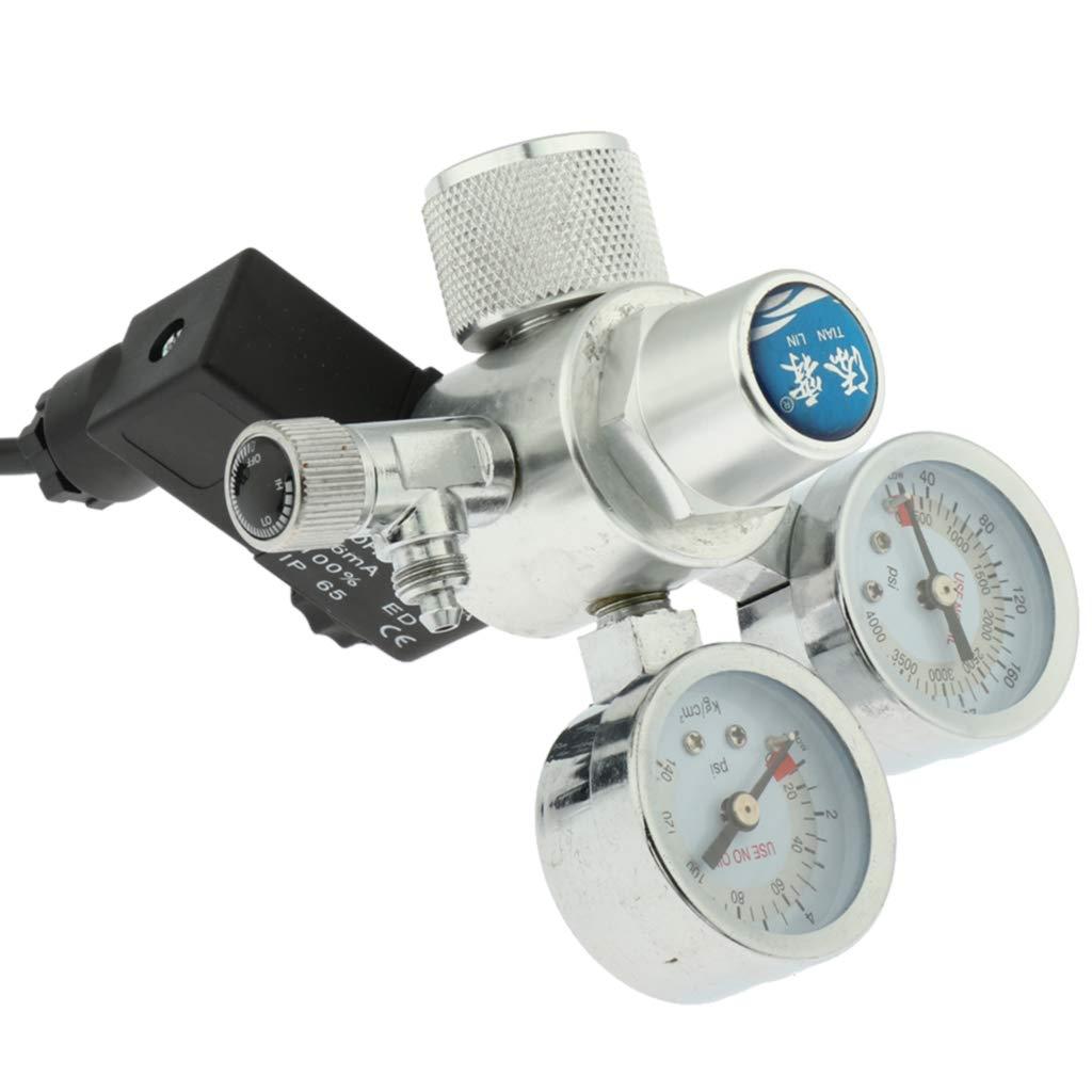 DYNWAVE Aquarium Co2 Regulator Magnetic Valve Adjustable Solenoid Water Plants Tank US Plug