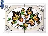 Silver Creek Butterflies, V-227 Art Glass
