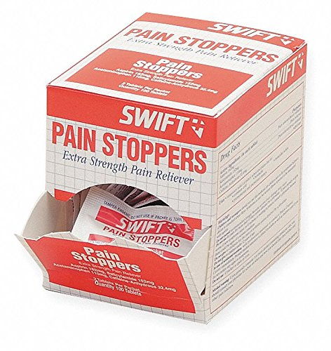 Honeywell 161617 Swift First Aid Pain Stoppers Pain Reliever Tablet (125 Packs Per Box, 1 Box) ()
