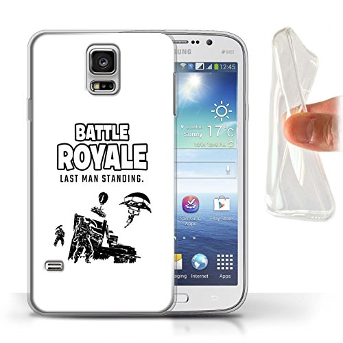 STUFF4 Gel TPU Phone Case/Cover for Samsung Galaxy S5/SV/Last Man Standing Design/FN Battle Royale Collection