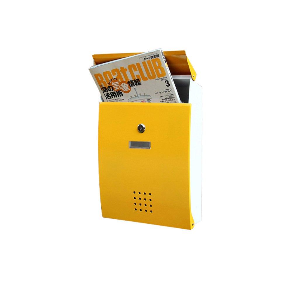 CJH クリエイティブヨーロッパのメールボックスヴィラ屋外レインガーデンメタル新聞ボックスホーム屋外防水壁ポスト   B07CY4Y213