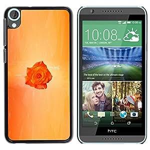 Be Good Phone Accessory // Dura Cáscara cubierta Protectora Caso Carcasa Funda de Protección para HTC Desire 820 // Orange Minimalist Rain
