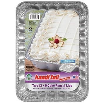 Handi-Foil - Juego de 2 sartenes desechables para tartas (13 x 9 cm): Amazon.es: Hogar
