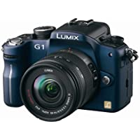 Panasonic Lumix DMC-G1 12.1MP Digital Camera with Lumix G Vario 14-45 mm f/3.5-5.6 ASPH Mega OIS Lens (Blue)