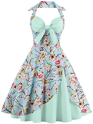 Women Vintage Wedding Dresses 1950s Retro Cocktail Gala Ball Gown,Mint,3XL from Babyonlinedress