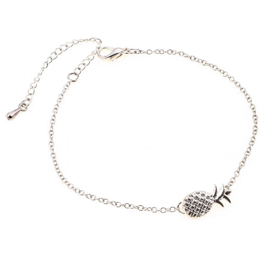 Cdet Bracelet en Ananas filles de fruits bijoux bracelet Bracelet poignet en argent pour femme avec chaînette Mode élégante Filles Style Nouveau