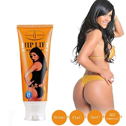 Hip Lift Up Cream,Vanvler Butt Enlargement Cellulite Removal Cream Buttock Enhance Fast Natural Cream (Orange)