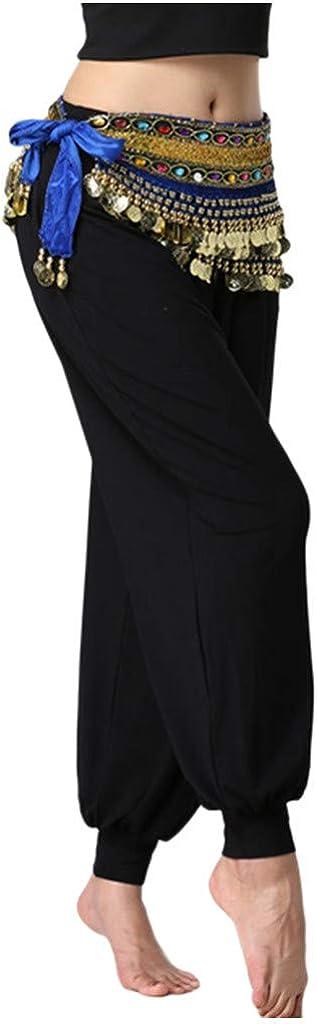 PFGO Body Chain Bikini Latin Dance Belly Dance Waist Chain Tassel Sequin Performance Clothes Dance Clothes Women Belly Dance Costume Belt Skirt Hip Wrap Outfit Sequins Tassels Bead Scarf
