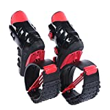 Black and Red Unisex Fitness Jump Shoes Bounce