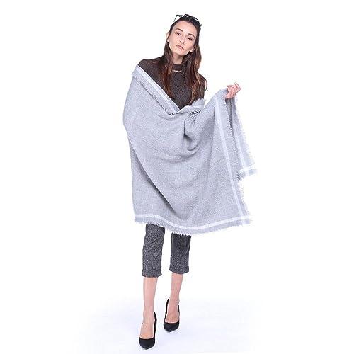 Moda nueva temperamento cálido color sólido bufanda impresión étnica vintage con aire acondicionado ...